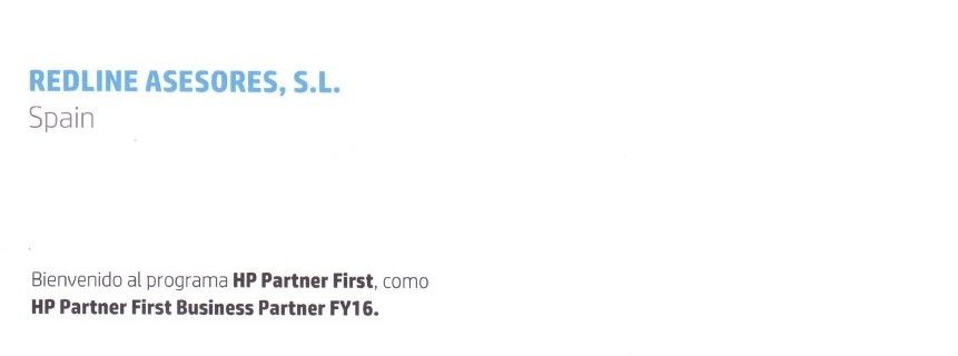 Nuevo Certificado HP First Business Partner FY16